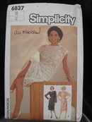 New Vintage Simplicity 6838 Lace Dresses  Ali MacGraw  1980's Size  18   Sewing Pattern