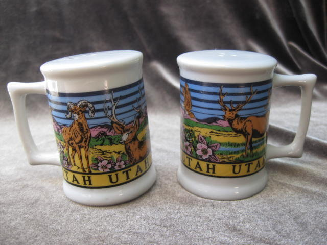 Souvenir State Utah Salt & Pepper Shakers