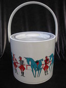 Vintage Georges Briard Polo Ponies & Players Ice Bucket