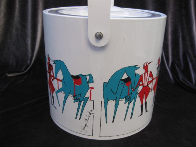 Vintage Georges Briard Polo Ponies & Players Ice Bucket