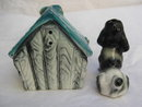 Vintage  Beware Of Dog  Dreamie &  Dog House Salt & Pepper Shakers