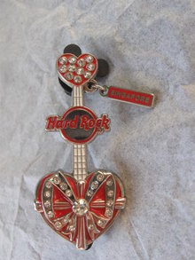 Hard Rock Singapore Guitar Pin Brooch