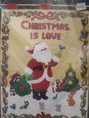 New Vintage Bucilla Christmas is Love Wall Hanging Jeweled Panel Kit 48636