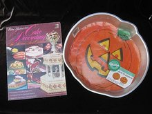 The Wilton Yearbook Of Cake Decorating 1977 & Jack O Lantern Cake Pan