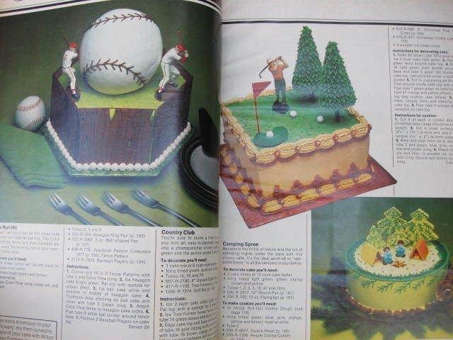 The Wilton Yearbook Of Cake Decorating 1977 & Jack O Lantern Cake Pan