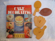 1979 The Wilton Yearbook Of Cake Decorating & 3 Wilton Sports Cookie Cutters
