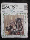 McCall's Crafts 5739 Precious Collections Cat & Kittens Sewing Pattern With Clothes