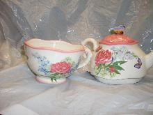 harry and david teapot and cup