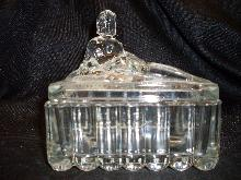 art deco nude glass candy dish