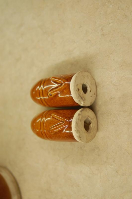 rare victory bullet/shell pottery salt and pepper