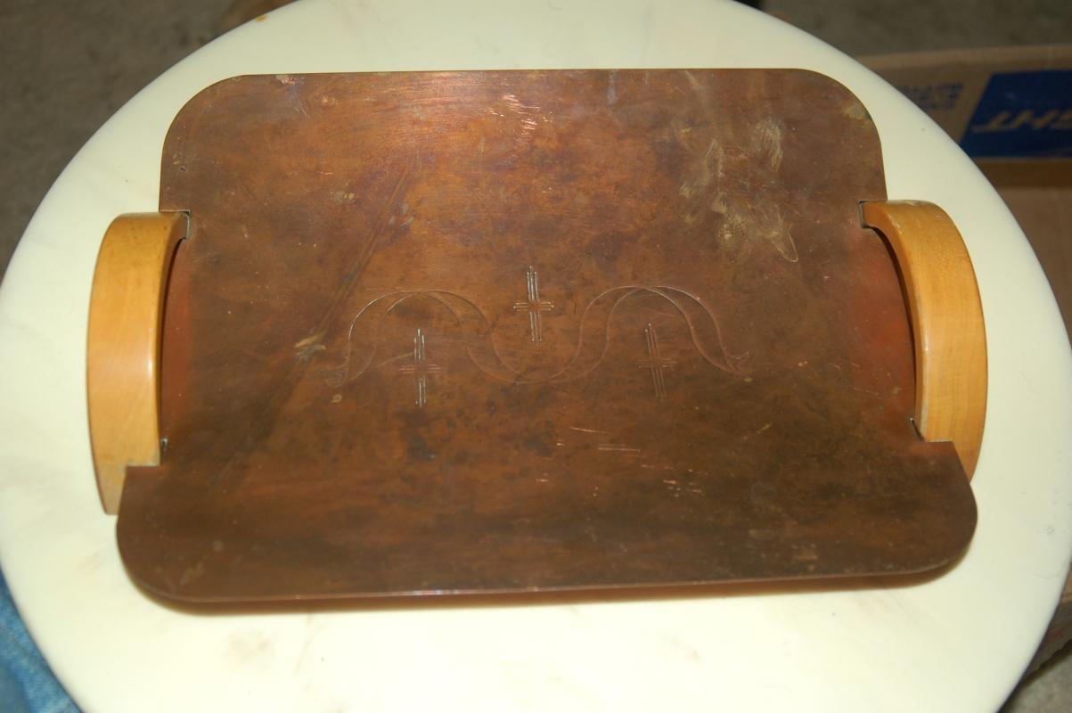 COPPER SERVING TRAY ART DECO
