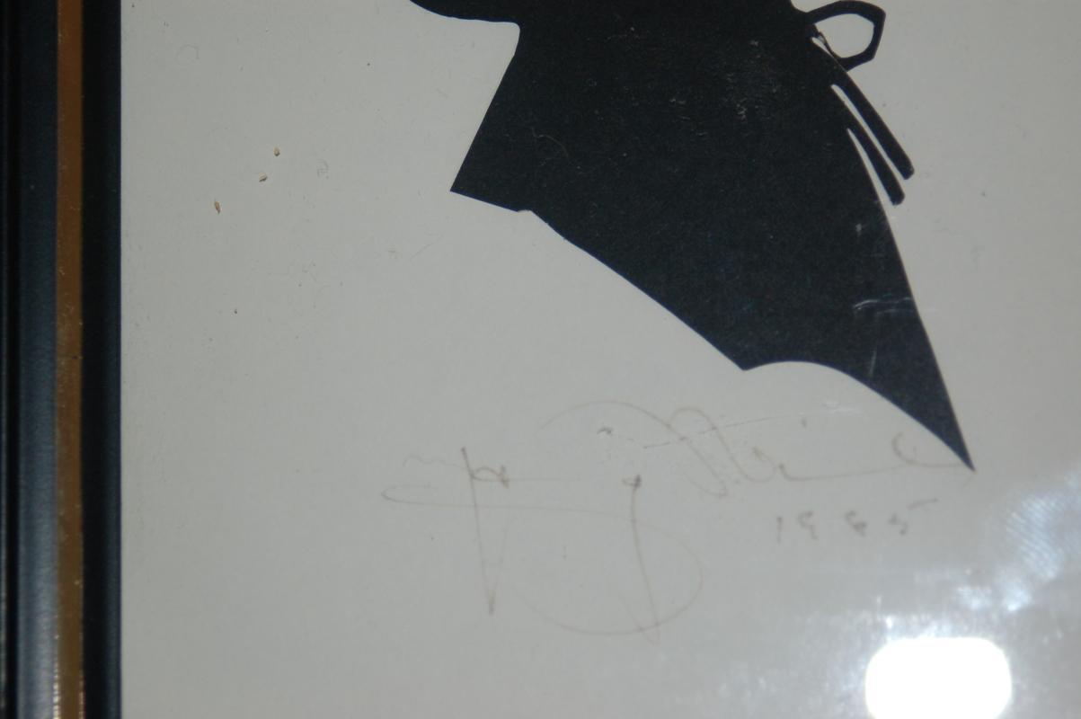 ANTIQUE SILHOUETTES ARTIST SIGNED - PAIR