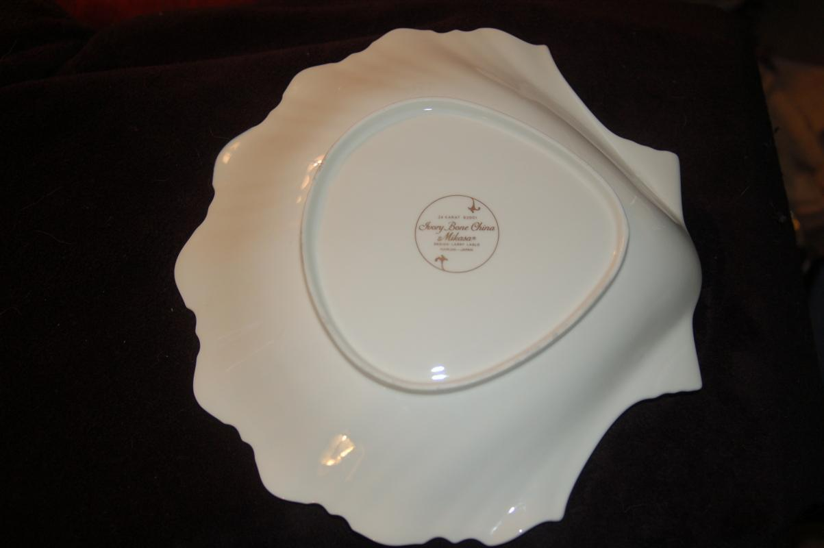 MIKASA FINE BONE CHINA CHIP DIP SHELL DISH