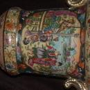 ANTIQUE ORIENTAL URN HAND PAINTED