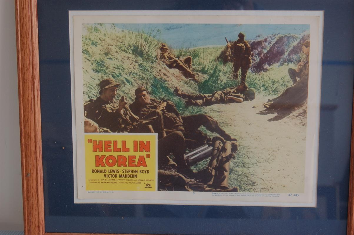 WAR MOVIE LOBBY CARD FRAMED