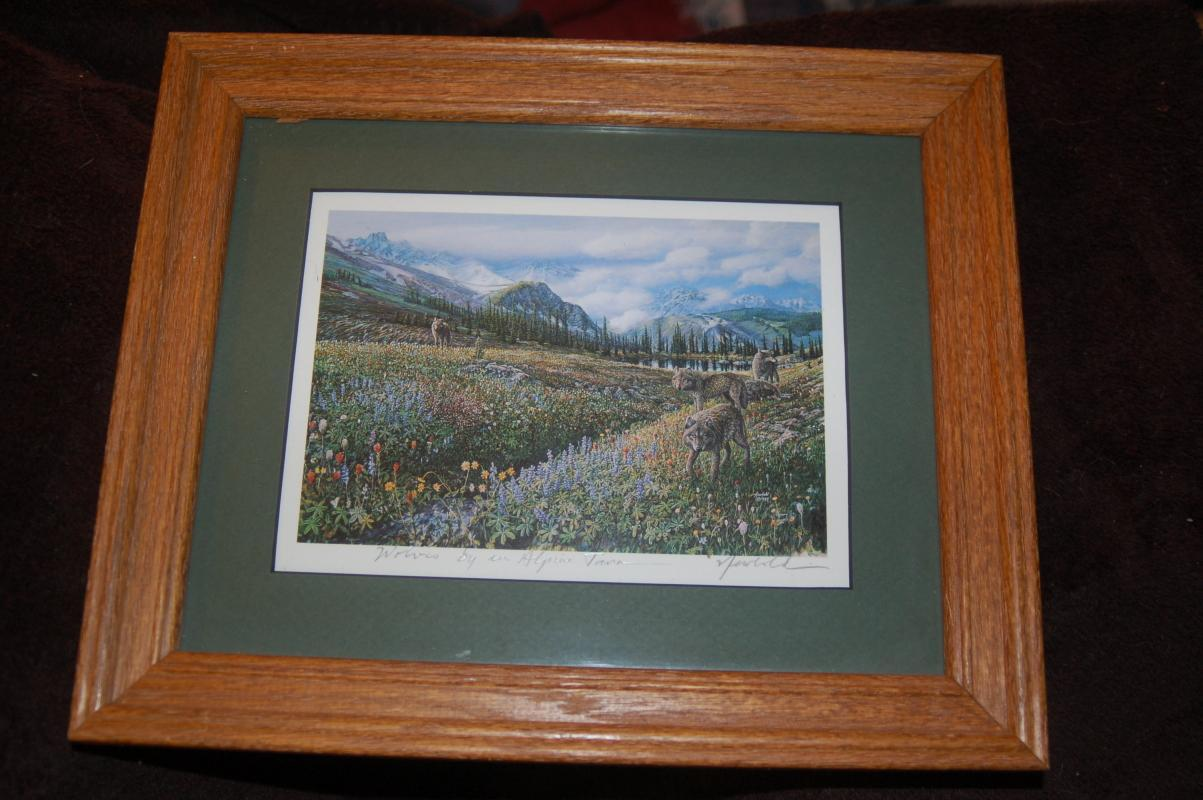 PHOTOGRAPH SIGNED BY ARTIST BY ED NEWBOLD FRAMED