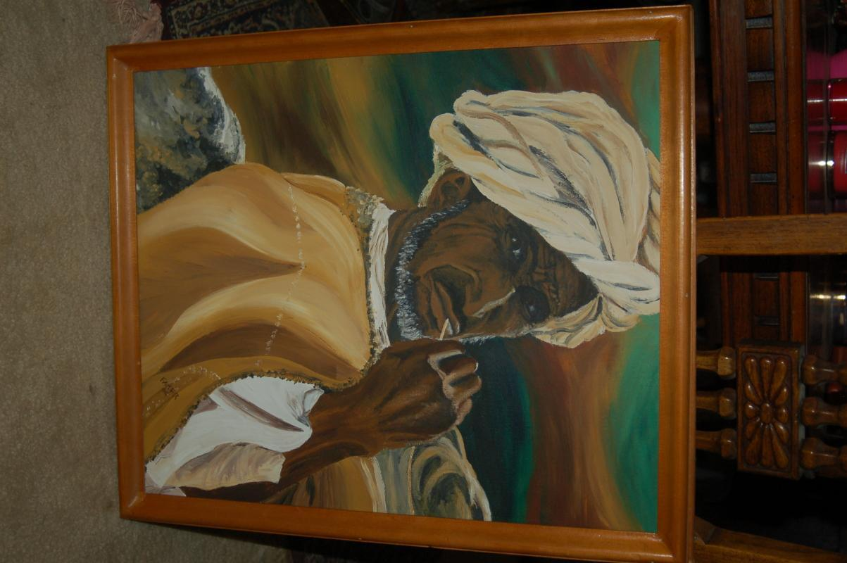 STRIKING PAINTING IN FRAME  SIGNED BY ARTIST ON CANVAS!