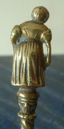 Old English Victorian Lady Brass Spoon c1900