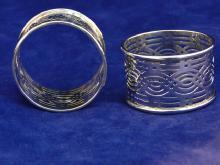 Pierced Sterling Silver Napkin Ring