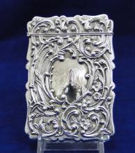 Sterling Silver Calling Card Case- Birmingham 1907