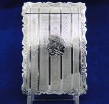 Sterling Silver Calling Card Case- Birmingham 1859
