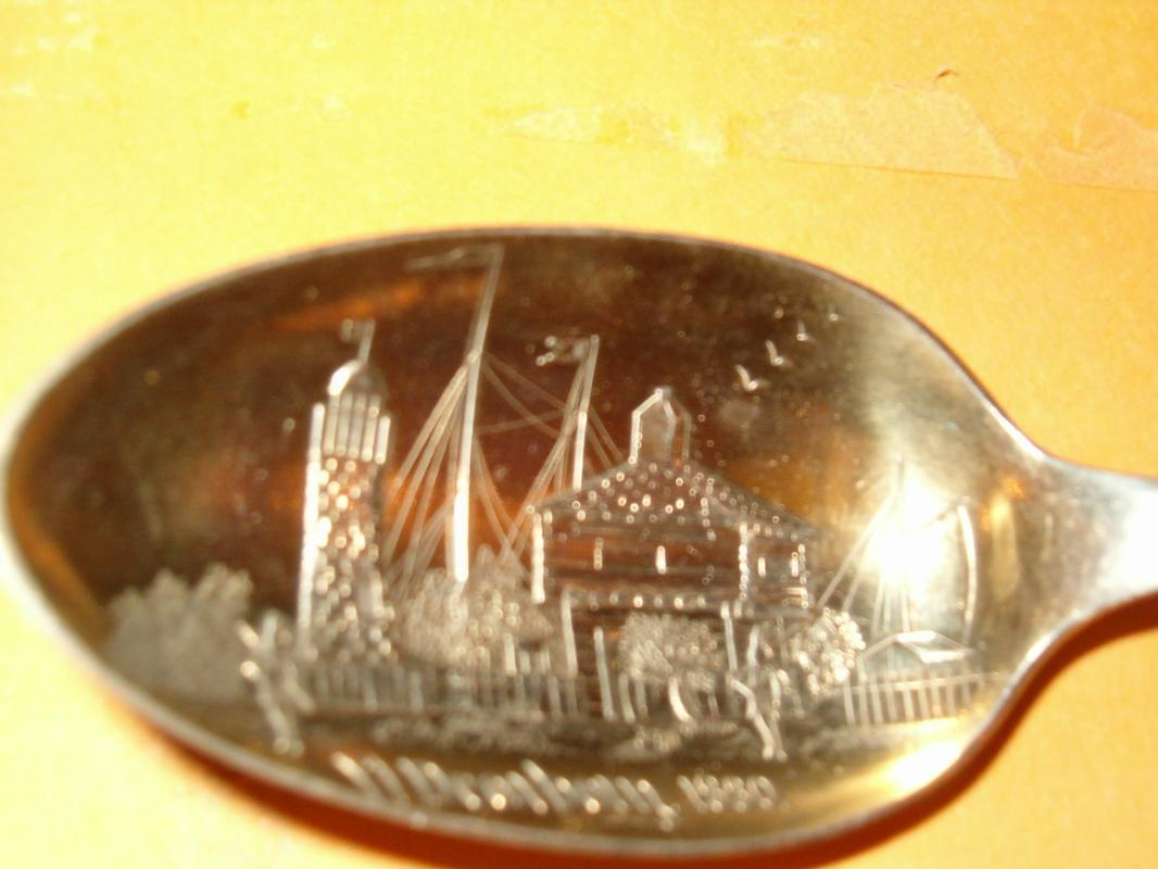 Sterling souvenier Chicago Fl Dearborn 1880
