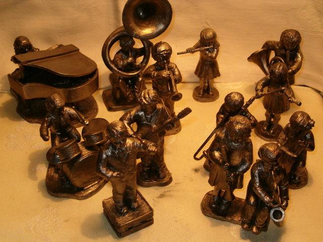 Children's pewter orchestra Ricker complete