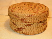 Tarahumara Indian basket/lid  old