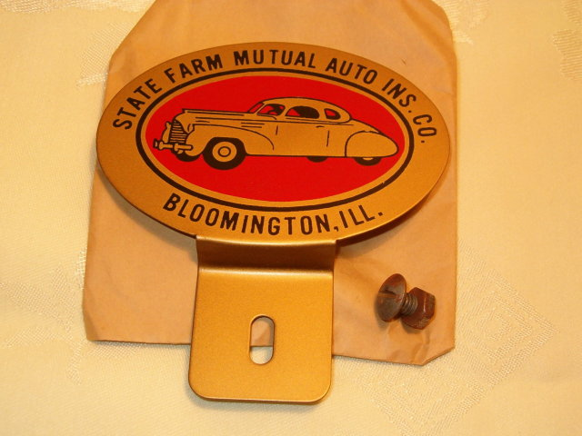 State Farm tag 1940's mint  advertising