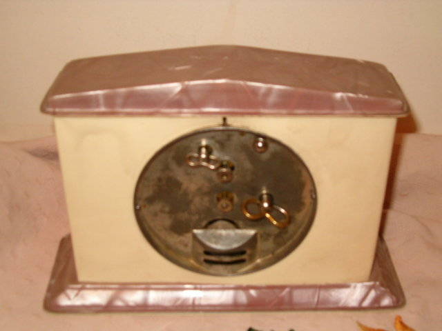 Celluloid alarm clock