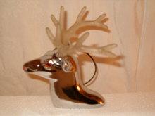 stag Chrome lighted hood ornament 1960