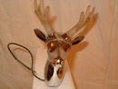 stag Chrome lighted hood ornament 1960