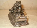 Pewter Ricker rabbits on toboggan rare