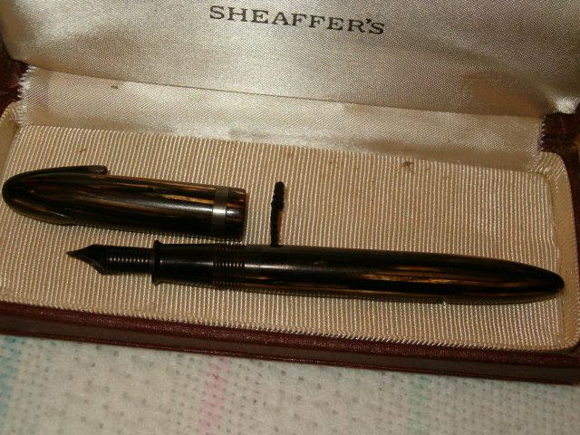 Sheaffer's white dot  military pen - rare