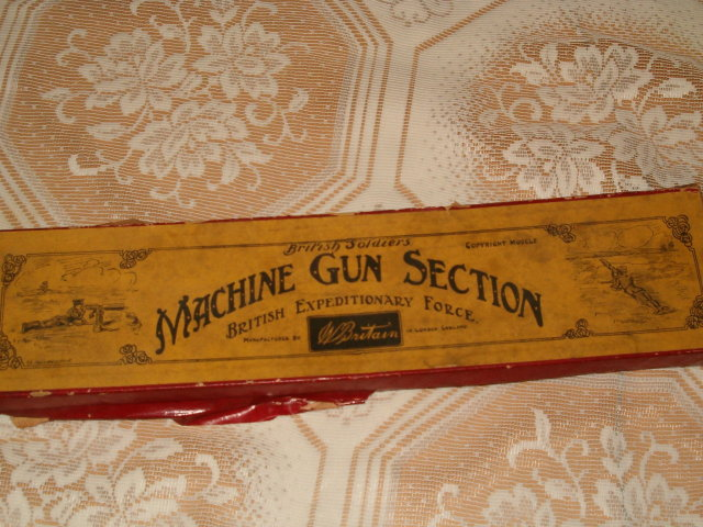 British Soldiers Machine Gun Section in box