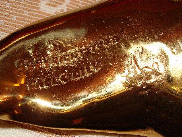 Calla Lily Bass Leaf Dish 1948