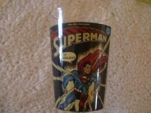 Vintage  Superman glass, From the Line of DC Comics , # 32-10 cent , It Tickles Glass