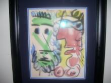 Picasso-Mixed Media on Paper-Signed Picasso-Titled