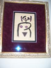 Paul Klee-Black and Purple-Nude Woman Drawing Germany 1879-1940- 9.00 x 7.00
