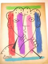Fine Art Drawing,  Mixed Media ,Signed Picasso