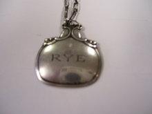 A Rare Vintage Signed George Jensen Sterling Silver- Decanter ( RYE ) Emblem