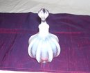 Fenton '' Feather '' French Opalescent- large squat cologne  Bottle