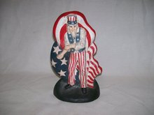 Vintage, Cast Iron-Uncle Sam Door Stop
