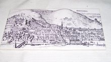 Porcelain Etching of European City