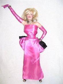 "Marilyn Monroe Porcelain 19"" Doll  Estate copywrighted Ball room doll"