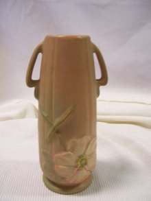 Weller Pottery -Dogwood-(2) Handled Brown Matte  8