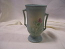 A '' Matte Blue 6.75 inch Vase, # 54  by Hull Pottery USA