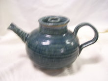 '' A Blue Tea Pot, by-Tennessee Pottery- 20th century- Artist -Gandy