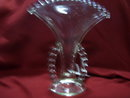 A vintage Imperial  Candlewick two handled   Beaded  Fan Vase