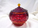 A large Vintage Amberia Stretched thumb imprint Cookie Jar